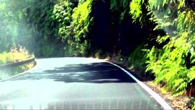 Extreme road hawaii maui usa curves adventure stock footage