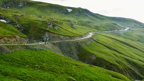 Extreme Road - Transalpina Romania. One of the most beautiful roads in the world stock photos