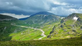 Extreme Road - Transalpina Romania. One of the most beautiful roads in the world royalty free stock image