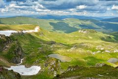 Extreme Road - Transalpina Romania. One of the most beautiful roads in the world stock images