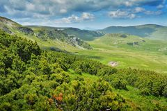 Extreme Road - Transalpina Romania. One of the most beautiful roads in the world stock photography