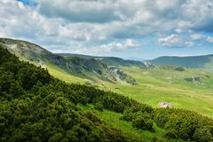 Extreme Road - Transalpina Romania. One of the most beautiful roads in the world royalty free stock images