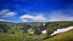 Extreme Road - Transalpina Romania. One of the most beautiful roads in the world stock image