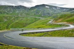 Extreme Road - Transalpina Romania. One of the most beautiful roads in the world stock photo