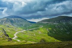 Extreme Road - Transalpina Romania. One of the most beautiful roads in the world royalty free stock photos