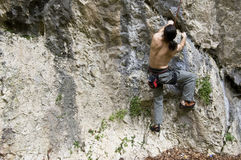 Extreme rock climber Royalty Free Stock Photo