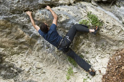 Extreme rock climber Stock Photos