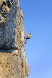 Extreme rock climbing. Stock Image