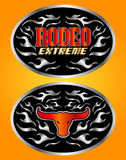 Extreme Rodeo cowboy belt buckle vector design Royalty Free Stock Photo