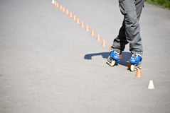 Extreme rollerblading Stock Photography