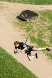 Extreme ropejumping Royalty Free Stock Photography