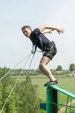Extreme ropejumping Stock Photo
