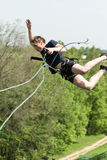 Extreme ropejumping Royalty Free Stock Photo