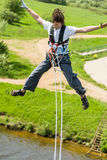 Extreme ropejumping Stock Photos