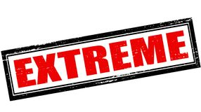 Extreme. Rubber stamp with word extreme inside,  illustration Stock Photography
