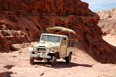 Extreme safari vehicle in Wadi Rum desert, Jordan Stock Photography