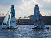 Extreme sailing series Stock Photo