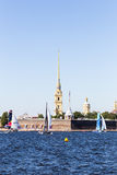 Extreme Sailing Series. Act 6, Saint Petersburg, Russia Peter and Paul Fortress 21 August stock photo