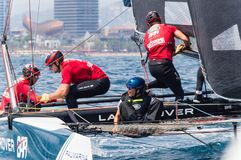 Extreme Sailing Series, Barcelona Stock Photo