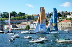 Extreme Sailing Series Porto July 2012 Royalty Free Stock Photography