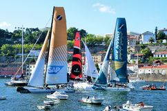 Extreme Sailing Series Porto July 2012 Stock Photos