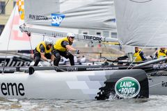 Extreme 40 Sailing series race 2014 in Russia, Saint-Petersburg Royalty Free Stock Photos
