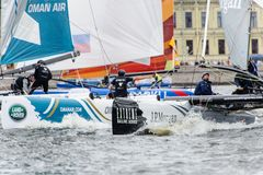 Extreme 40 Sailing series race 2014 in Russia, Saint-Petersburg Royalty Free Stock Photo