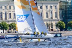 Extreme 40 Sailing series race 2014 in Russia, Saint-Petersburg Stock Photography