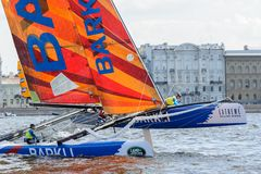 Extreme 40 Sailing series race 2014 in Russia, Saint-Petersburg Stock Images