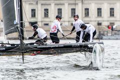 Extreme 40 Sailing series race 2014 in Russia, Saint-Petersburg Stock Photos