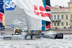 Extreme 40 Sailing series race 2014 in Russia, Saint-Petersburg Royalty Free Stock Images