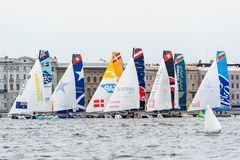 Extreme 40 Sailing series race 2014 in Russia, Saint-Petersburg Stock Photo