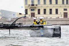 Extreme 40 Sailing series race 2014 in Russia, Saint-Petersburg Stock Image