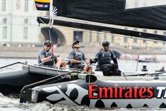 Extreme 40 Sailing series race 2014 in Russia, Saint-Petersburg Royalty Free Stock Image
