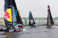 Extreme sailing series in Saint-Petersburg Royalty Free Stock Photography