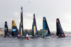 Extreme sailing series in Saint-Petersburg Stock Images
