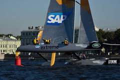 Extreme Sailing Series in St. Petersburg, Russia Royalty Free Stock Photos