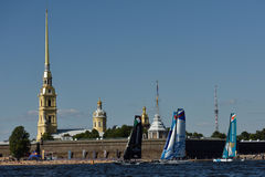 Extreme Sailing Series in St. Petersburg, Russia Stock Photography
