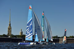 Extreme Sailing Series in St. Petersburg, Russia Stock Images