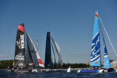 Extreme Sailing Series in St. Petersburg, Russia Stock Photo