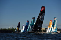 Extreme Sailing Series in St. Petersburg, Russia Royalty Free Stock Photography