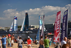 Extreme Sailing Series in St. Petersburg, Russia Royalty Free Stock Photo