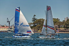 Extreme Sailing Series in Sydney Royalty Free Stock Photo