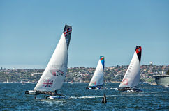 Extreme Sailing Series in Sydney Stock Photography