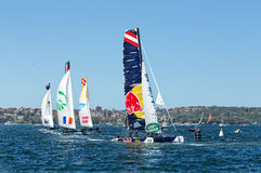 Extreme Sailing Series in Sydney Stock Images