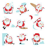 Extreme Santa. Cartoon extreme Santa  set 2. EPS 10. Separate layers Royalty Free Stock Photography