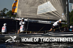 Extreme segelnde Reihe in St Petersburg, Russland Stockfotos