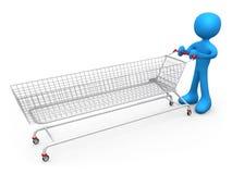 Extreme Shopping Stock Photo
