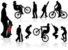 Extreme silhouettes vector illustration