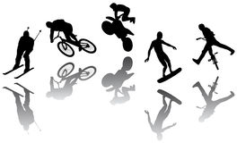 Extreme Silhouettes Royalty Free Stock Image